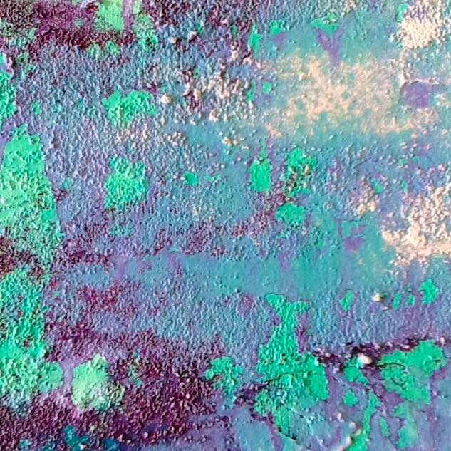 Un sueño en lavanda - Obra de Coqui Vera-Pintura